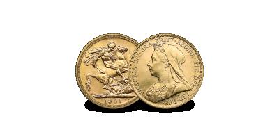 Queen Victoria Gold Sovereign - The rare last portrait type