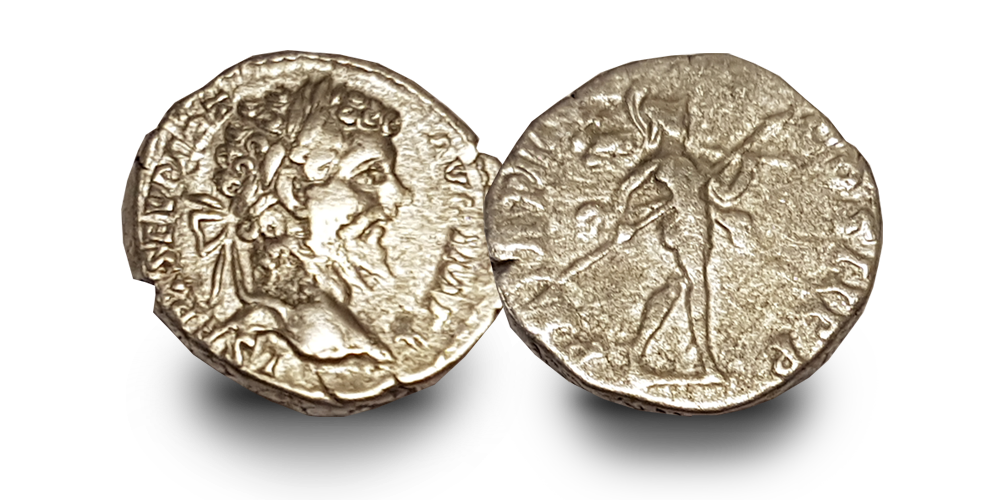 War and Peace in Ancient Rome:  Three Silver Coin Set