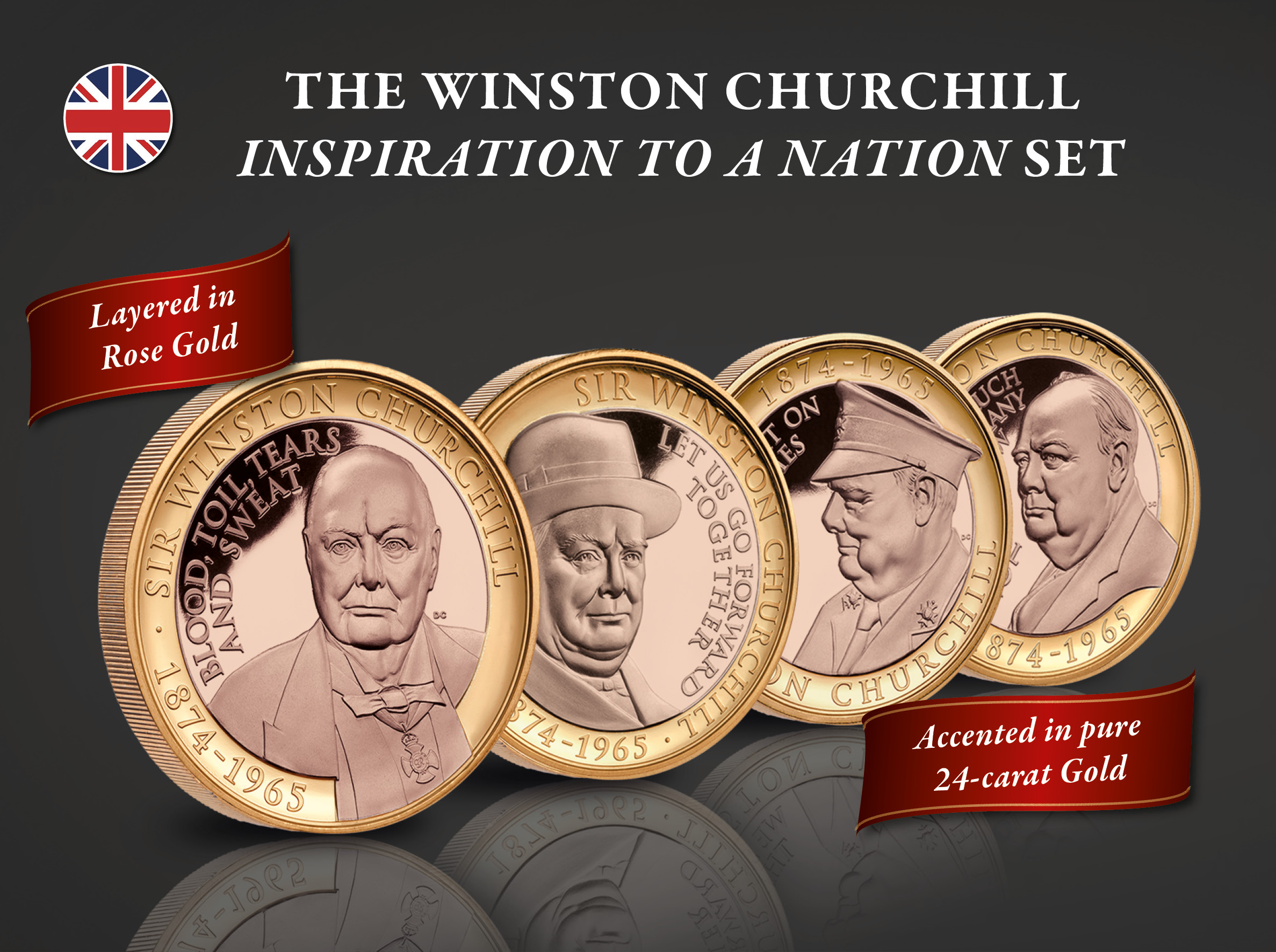 Winston Churchill Inspiration to a Nation Set
