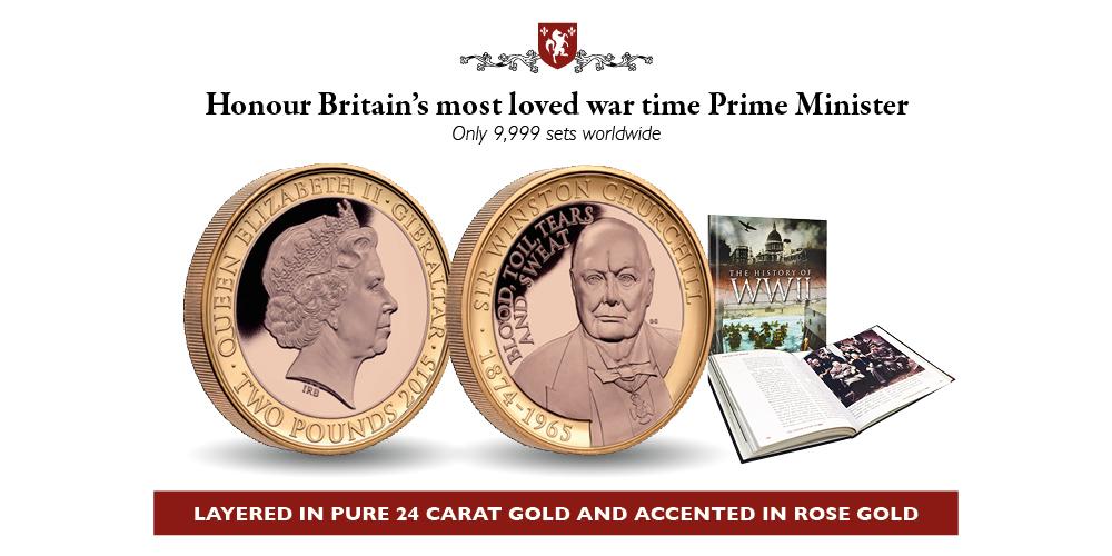 World War Two - Churchill Coin and Book Set