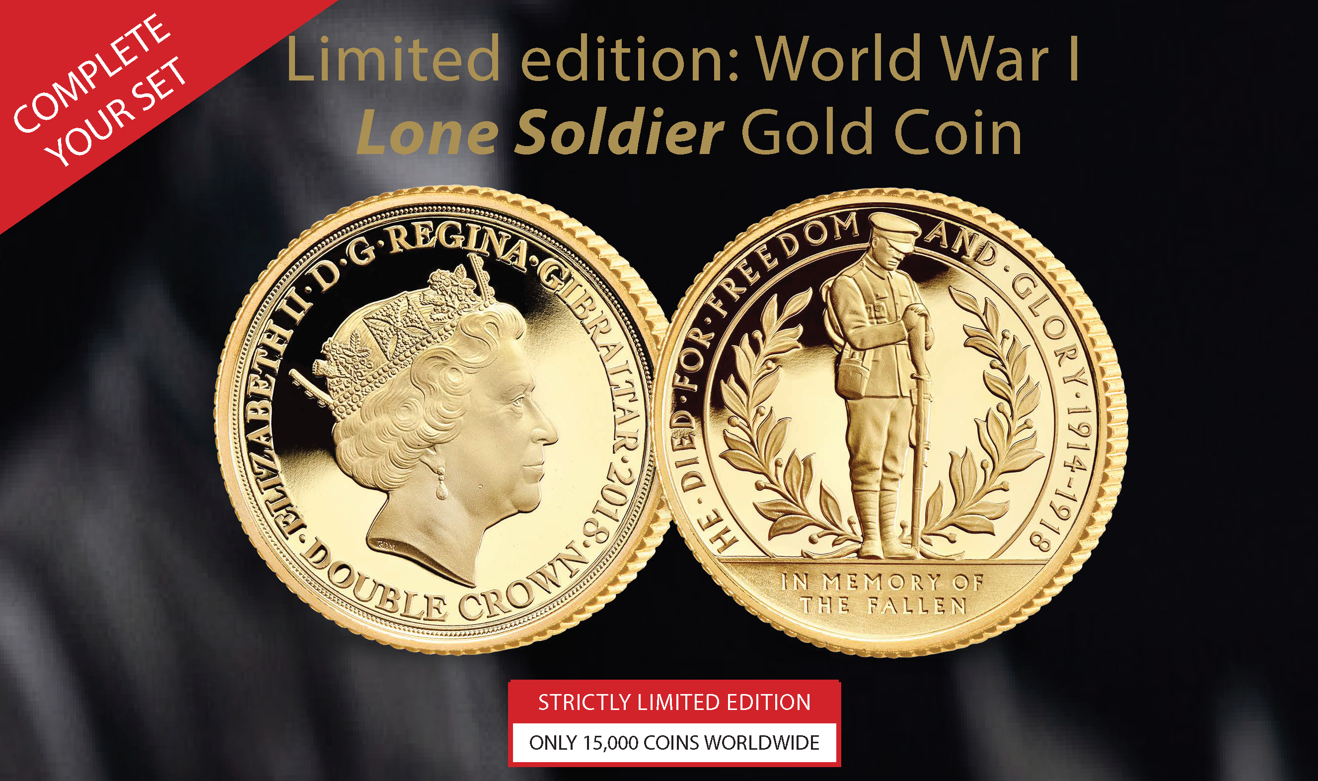 World War I Centenary Lone Soldier Gold Coin