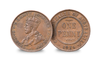 THE FIRST WORLD WAR REMEMBERED Australia 1p obverse (1936)