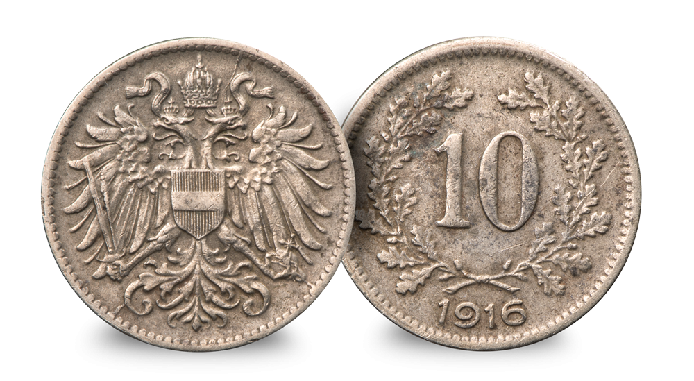 THE FIRST WORLD WAR REMEMBERED Austro Hungary 10H (1916)