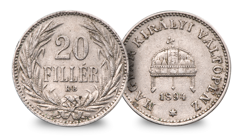 Hungary 20F  (1894)