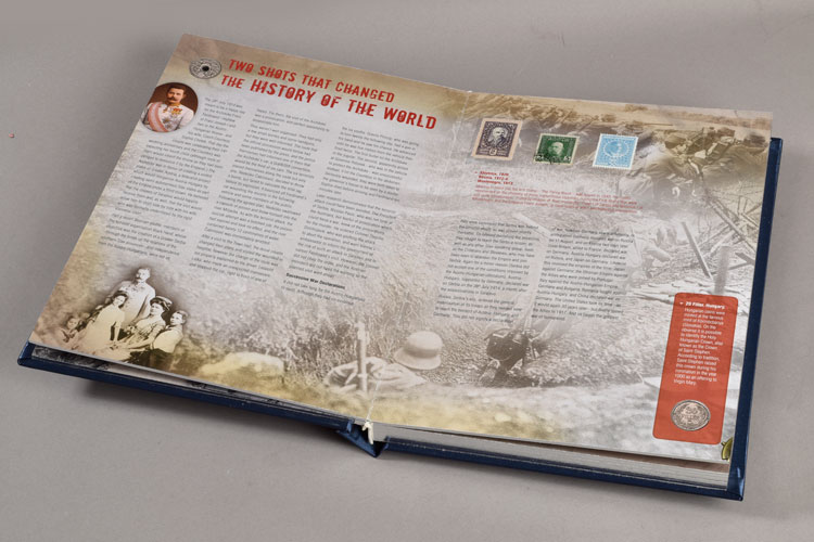 WWI Coin and Stamp Book