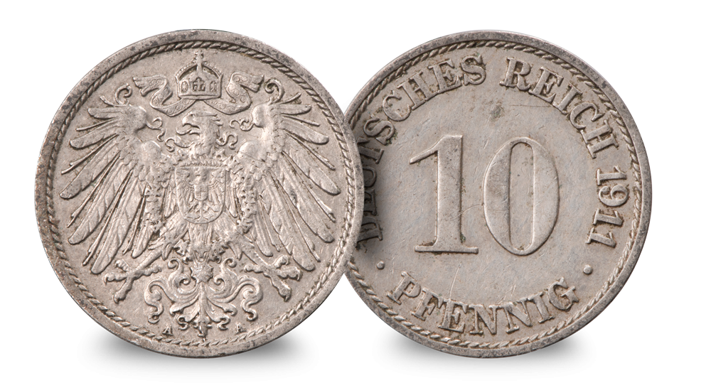 Germany 10 Pfennig  (1911)