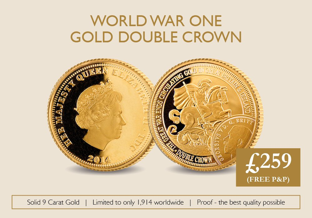 WWI Gold Double Crown