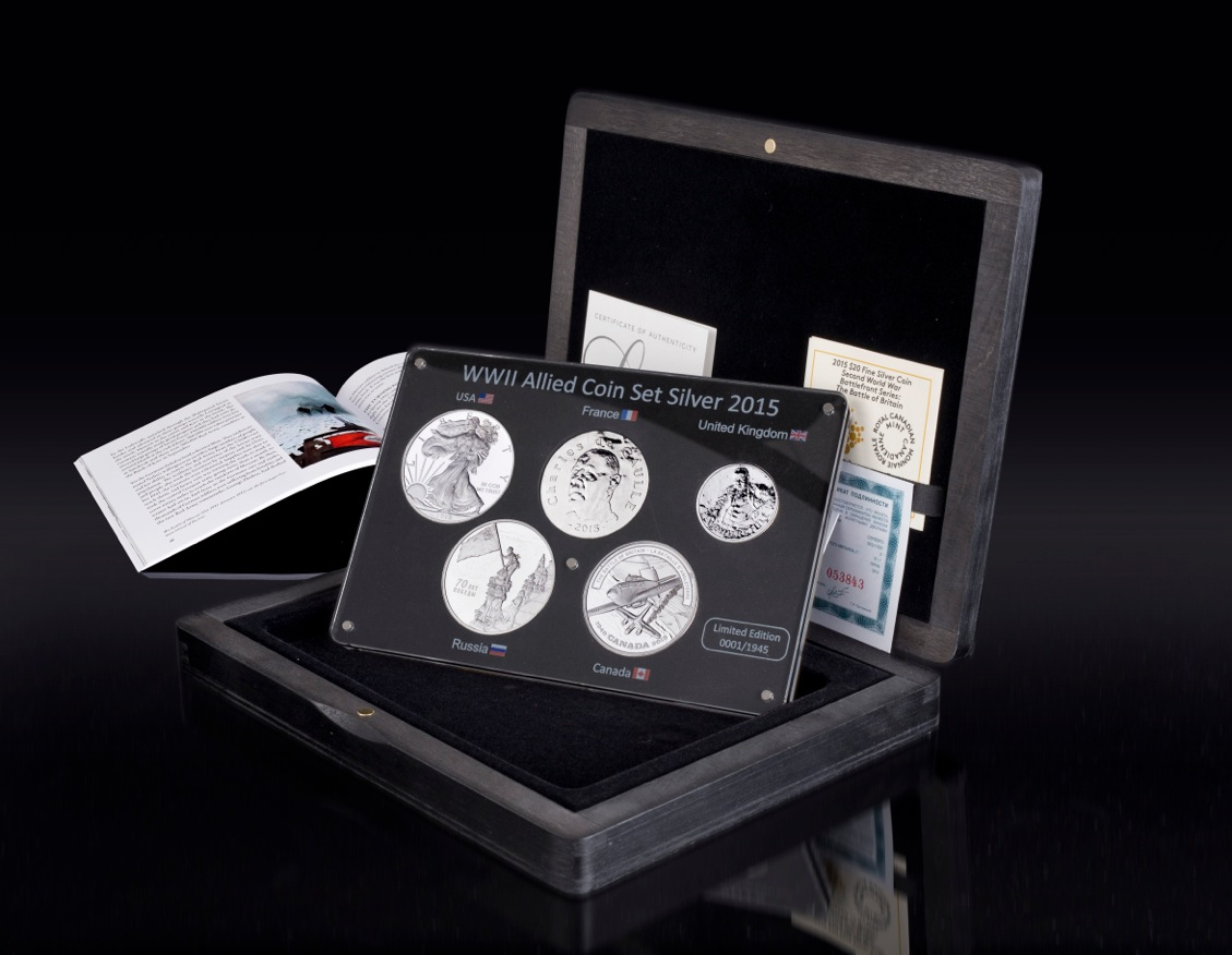 WWII Allied 104 Silver Coin Set