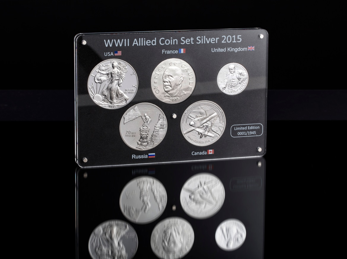 WWII Silver Coin Set