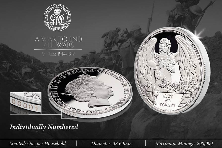 The new limited edition 2017 Ypres Centenary Coin