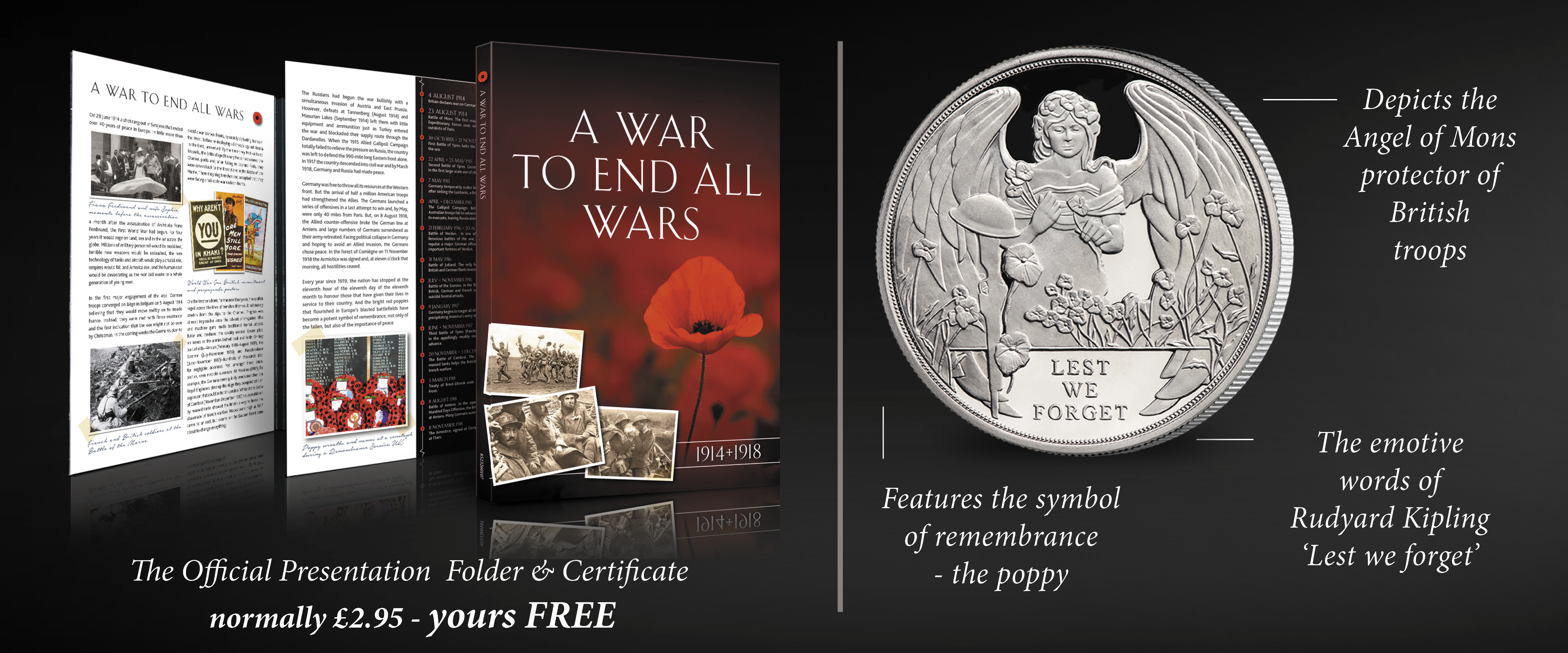 Ypres Centenary Coin FREE Collectors Folder