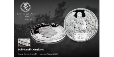 Ypres Centenary Uniquely Numbered Coin Offer